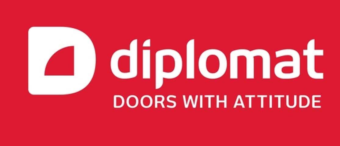 diplomat dörrar logga